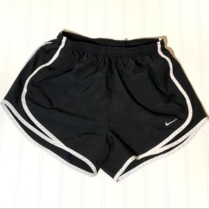 Nike black and white running athletic shorts Small